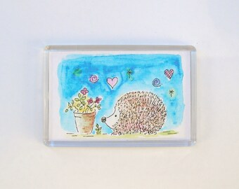 Curious hedgehog Fridge Magnet