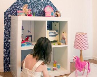 Ikea kallax expedit puppenhaus bauen passendes wandtattoo - Ikea puppenhaus mobel ...