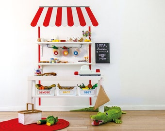 Kaufladen selber machen mit Wandtattoo passend für IKEA - Handmade - DIY (Möbel nicht inklusive)