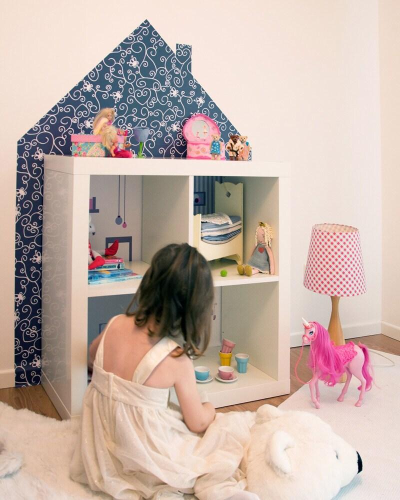 Puppenhaus wandtattoo für ikea kallax oder expedit von limmaland