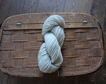 Alpaca White-Grey Wool 4 Ply