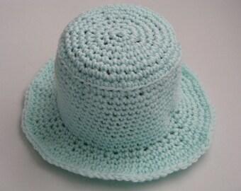 Pistachio Green Acrylic Crochet Hat