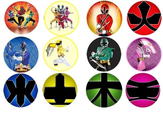 Power Ranger Megaforce Cake Toppers