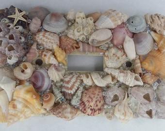 Natural Seashell Light Switch Cover - Coastal Living, Nautical Decor