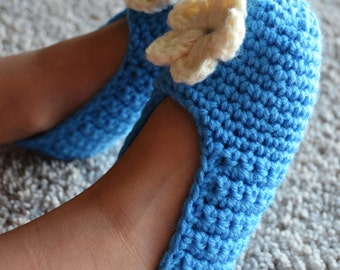 Crochet Slippers. Girls 4-9 years