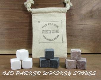 9 Mixed Stone Set. Whiskey Stones, Wine Stones, Wine Chiller. 9 Stone Set. Chiller Stones.