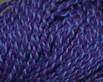 Purple Handspun yarn