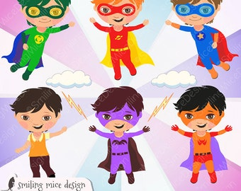 SUPERHEROS digital clipart,  Superhero Clipart, Super Hero Clipart, Hero Clipart, Superhero Villain Clipart
