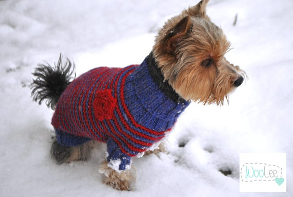 Maltese Dog Knitting Pattern : Items similar to Pet Clothing Small Dog Clothes Hand Knit Dog Sweater Knit Do...