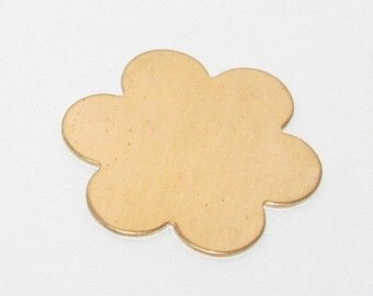 6 Petal Flower Brass Blank (5)
