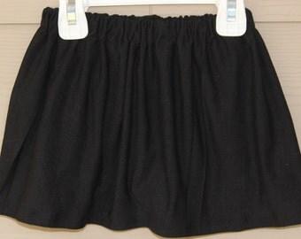 Girls Skirts Baby Girl Toddler Black Skirt- Jersey Knit girls Skirt, Plain Black Skirt