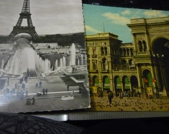1 French postcard from Paris - Italian postcard  2 for the price of one.