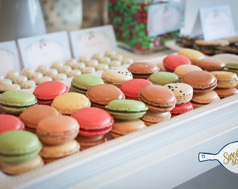 60 Assorted French Macaron Cookies - 5 dozens
