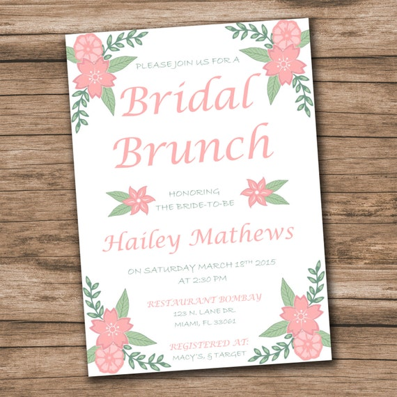 Bridal Shower Invitation Template Download Instantly – Bridal Shower Invitation Templates for Word