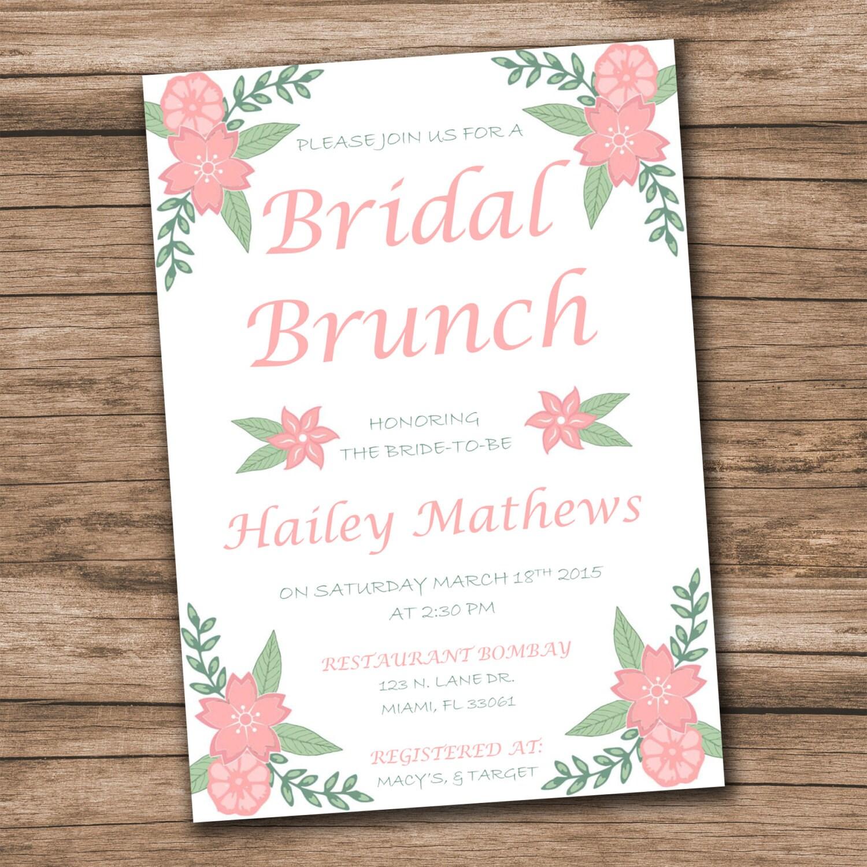 bridal shower einladung vorlage download sofort bridal, Einladung