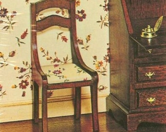 House of Miniatures Hepplewhite  Side Chairs  Kit no. 40007 makes two chairs