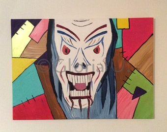 The fool-acrylic on canvas-50 x 70-unique piece