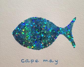 Jersey Shore Glitter Fish