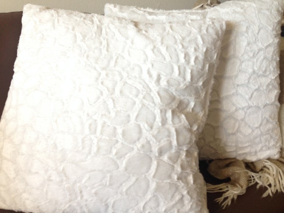 White throw pillow by AugsAccents on Etsy