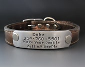 Personalized Dog Collar - Have your people call my people