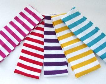 Stripe Headband,Hair Bows,Girls Gift,Ladies Gift,Bandana,HairClip,Bows,Hair Accessories,Stripe Hairband,Hairtie,Stripe Accessories, Set of 5