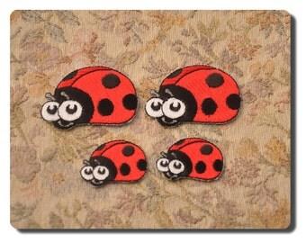 Iron on Applique  ladybug embroidered big or small