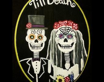 Dia de Los Muertos Day of the Dead Skull Bride Groom Wedding