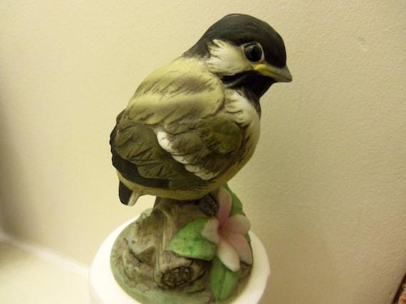 Baby chickadee bird figurine by andrea - Chickadee figurine ...