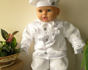 "Baby Boy Outfit Set ""Angelo""-Christening,Baptism,Events"