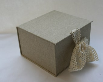 Handmade Print box / Memory box / keepsake box / clamshell box