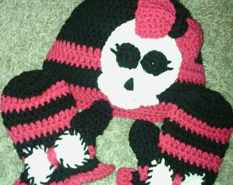 Crochet skully hat for Jewelry stores effingham il