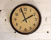 """15"""" 1940s Smiths Sectric Industrial Wall Clock"""