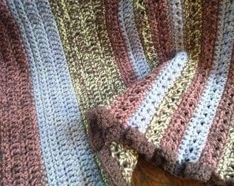 Baby blanket, stroller blanket, wool / acrylic mix