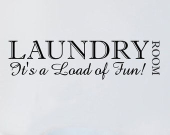 Laundry Room Wall Quote Sticker - by Createworks WA038X