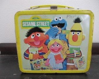 Vintage Sesame Street Metal Lunchbox