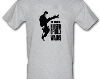 MINISTRY of Silly Walks Monty Python Retro 100% Cotton t-shirt All Sizes Small - XXL (kids and adults)
