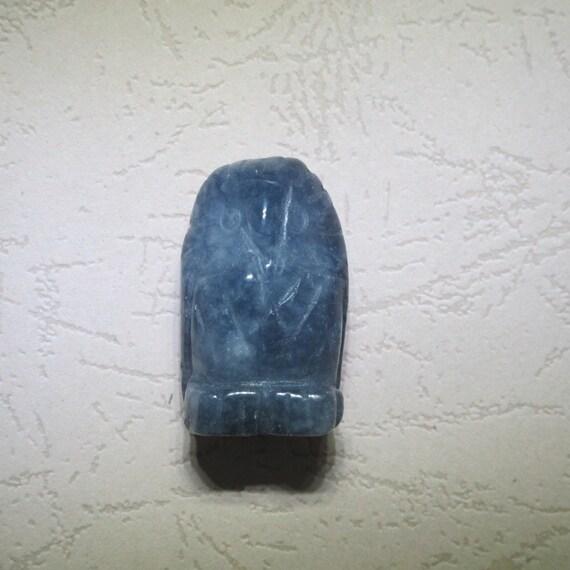 Carved jade owl pendants natrual stone pendant