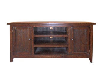 Media Console, Entertainment Center, TV Stand, Console Table, Cabinet, Reclaimed Wood, Vintage, Rustic