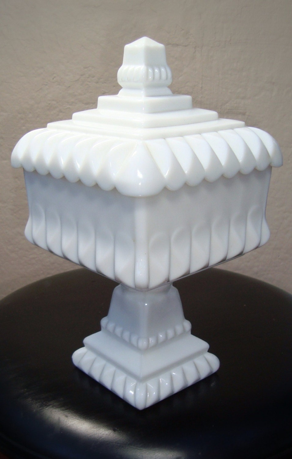 Vintage White Westmoreland Milk Glass Pedestal Wedding Bowl