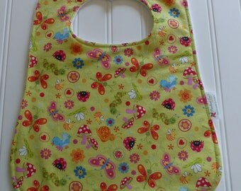 Baby Bib Shower Gift, Baby Bugs Butterfly Snails Feeding Cover, Cute Bugs Baby Bib, Toddler Bib