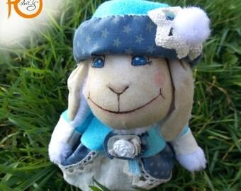 Marie Sheep-Mas,  cute little sheep in blue