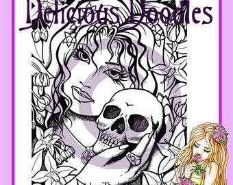Digital Stamp - Gothic Deadly Nightshade