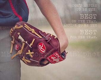 8x10 The Best for the Team Baseball Print