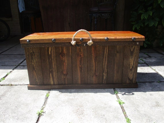 Rustic Solid Wood Storage Bench By Rusticvalleywoodwork On Etsy