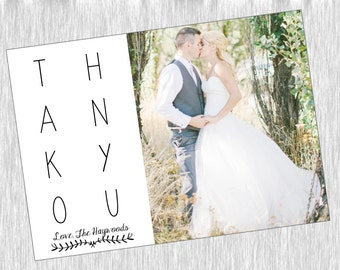 A Wedding Must:  Personalized Thank Yous!
