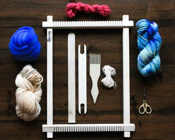Wall Art Loom Kit : Weaving loom kit lap hand wall by rovingtextiles