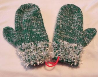Handmade Knitted Mittens