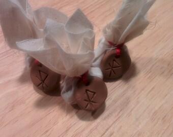 Love Herbal Sachet with Clay Rune Pendant