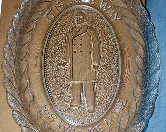 1901 Assassination of President McKinley Original Mourning Plate
