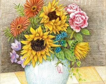 Afternoon Bloom - Fine Art, Wall Art, Giclee Print